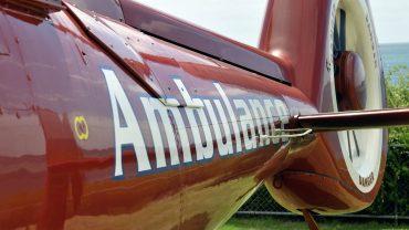 Closeup view of an air ambulance